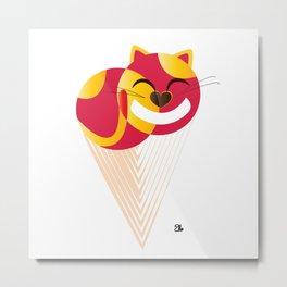 Ice Cream Cat Metal Print