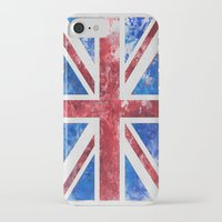 union jack iPhone & iPod Cases featuring Union Jack by LebensART