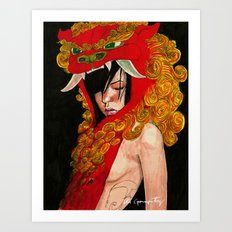 Foo Dog Slayer Kat Art Print