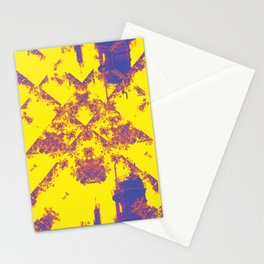 Oil is Over Series; Yellow Lavender Industrial Haze Stationery Cards