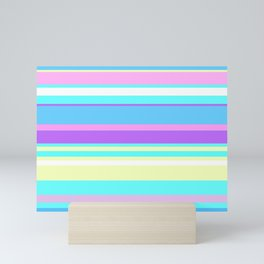 Pastel Stripes Mini Art Print