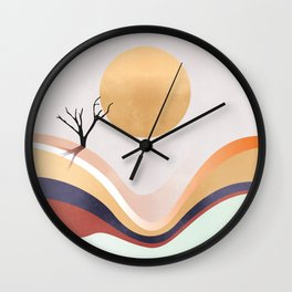 The Flowing Pale Desert Wall Clock