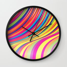 Crazy Fantasy Colorful Stripes Wall Clock