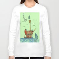 anchors Long Sleeve T-shirts featuring Anchors Away! by Ryan van Gogh
