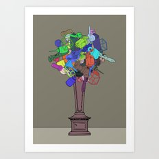 Joke Flower Art Print