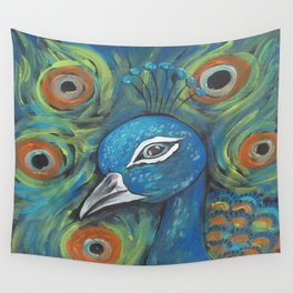 Peacock Head Wall Tapestry