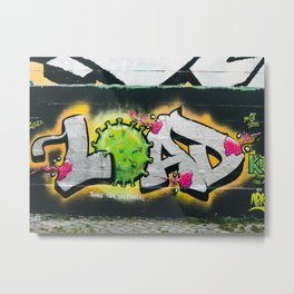 Graffiti Tag Urban Art Virus Metal Print