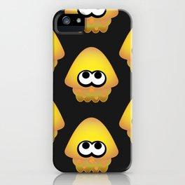Splatoon Squid Pattern Yellow iPhone Case