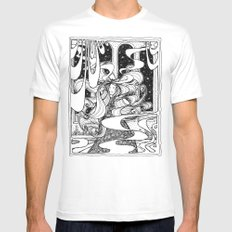 And she danced all night long... White Mens Fitted Tee MEDIUM