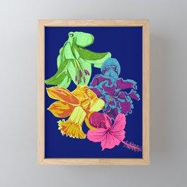 Octopus Flower Garden Framed Mini Art Print