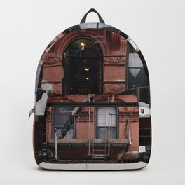 Stores and business in MacDougal Street, NYC Backpack