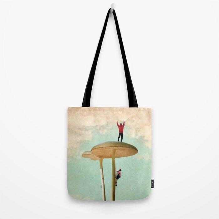 Land of the Giant Mushroom Tote Bag