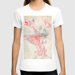 Reno map Nevada painting T-shirt