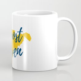 West Virginia Almost Heaven Map Gifts Coffee Mug