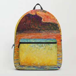 Claude Monet Sunset In Venice Backpack