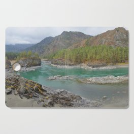 Katun river, Altai mountains, Siberia, Russia Cutting Board