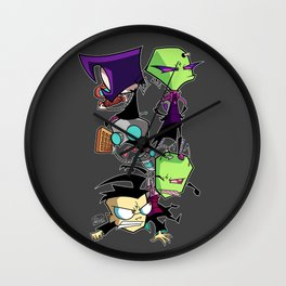 Pile on the Dib Wall Clock