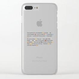 Aja - Linda Evangelista Clear iPhone Case