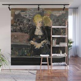 "Édouard Manet ""First version of Le Bar aux Folies Bergère"" Wall Mural"