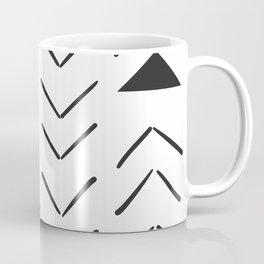 Mud Cloth Vector in Cream and Black Coffee Mug