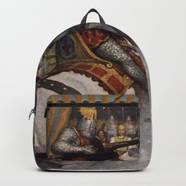 Knights jousting Backpack