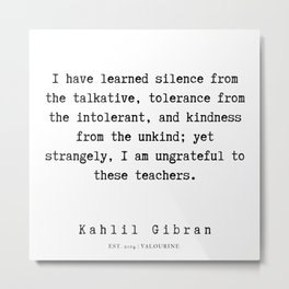 93    | Kahlil Gibran Quotes | 190701 Metal Print