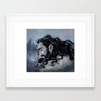 thorin Framed Art Prints featuring Thorin by Ammo