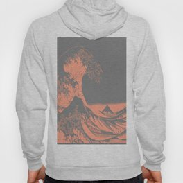 The Great Wave Peach & Gray Hoody
