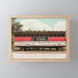 Farm Fresh Eggs Farmhouse Decor Framed Mini Art Print