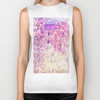 monet Biker Tanks featuring Monet : The House Among the Roses  by PureVintageLove