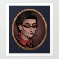 crowley Art Prints featuring Crowley by Abbi Laura