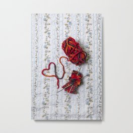 knitted with love Metal Print