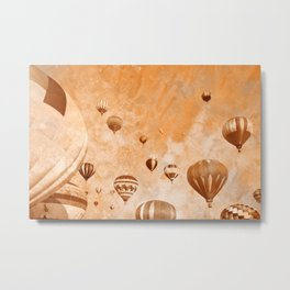 Vintage Acrylic Air Balloons Metal Print