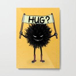 Monster Hug Cute Evil Character Metal Print