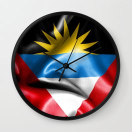 Antigua and Barbuda Flag Wall Clock