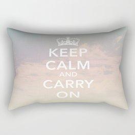 Keep Calm & Carry On Rectangular Pillow