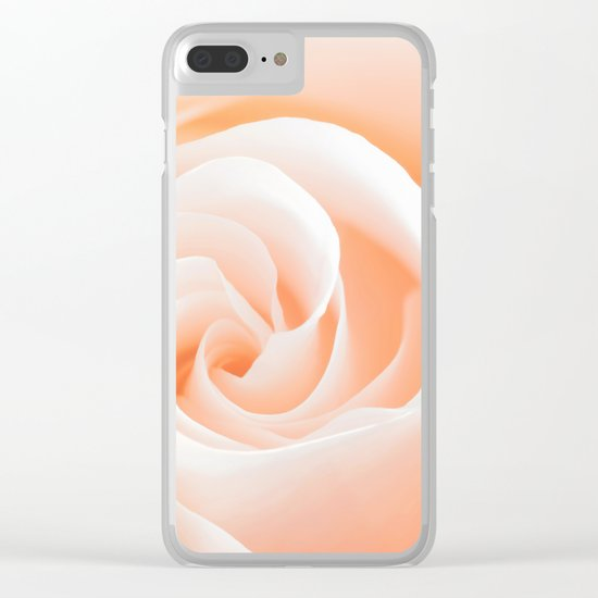 Rose´s heart I- Beautiful roses flower in pink Clear iPhone Case