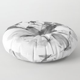 Ghostly Blooms Floor Pillow