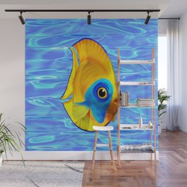 Tropical Fish on Clear Ocean Water 3D Wall Mural