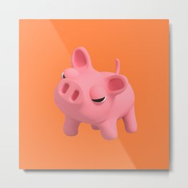 Ros the Pig is Angry Metal Print