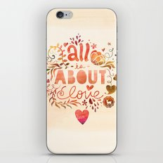 all is about love  iPhone & iPod Skin