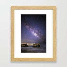 Milky Way over Natural Bridge Framed Art Print