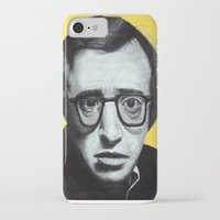 woody allen iPhone & iPod Cases featuring Woody Allen by Black Neon