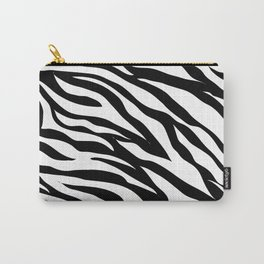 modern safari animal print black and white zebra stripes Carry-All Pouch