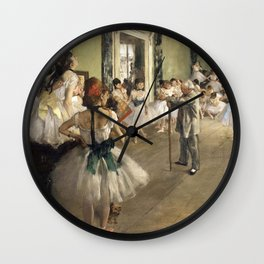 The Dance Lesson - Edgar Degas Wall Clock