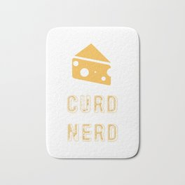 Curd Nerd Cheese Lover product Bath Mat