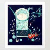 alien Art Prints featuring Alien by Nayoun Kim