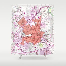 Vintage Map of Frederick Maryland (1953) 2 Shower Curtain