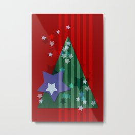 stars and stripes - christmas edition Metal Print