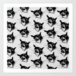 Savage Kitten Art Print